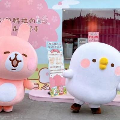 商场美陈-卡娜赫拉樱花节美陈,太可爱了!