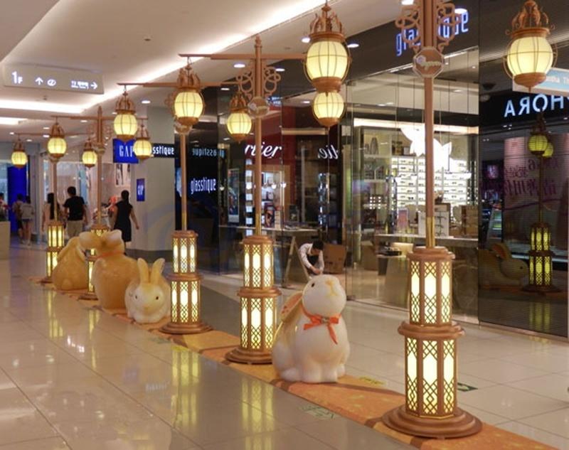 北京apm购物中心中秋美陈