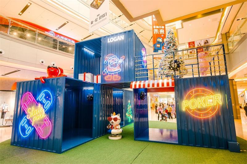 深惠龙光商业广场圣诞美陈