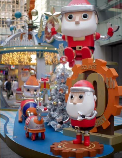 圣诞美陈-机械圣诞老人给你一个不一样的圣诞节!