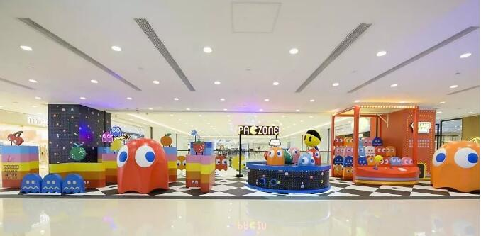 商场美陈-吃豆人乐园!