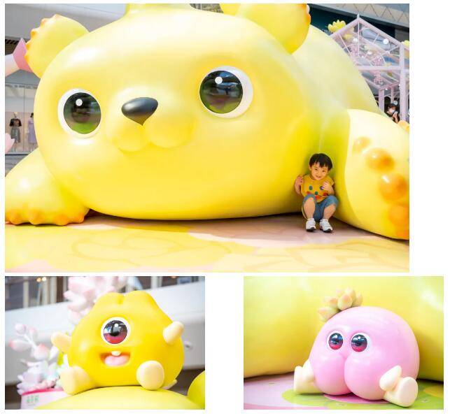 商场美陈-萌芽熊的夏天,熊抱一夏!