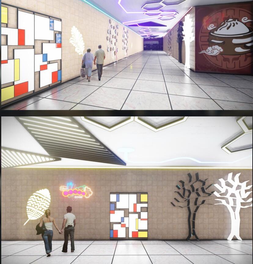 萝岗万达地铁铺商场美陈设计方案
